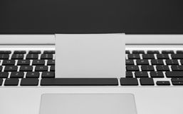 Blank Business card on computer keyboard Stock Image