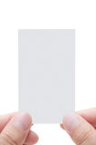 Blank Business Card With Human's Fingers Royalty Free Stock Photography