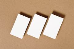 Blank Business Card. On kraft paper Stock Images