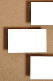 Blank Business Card. On kraft paper Stock Photography
