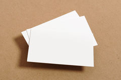 Blank Business Card Stock Photo