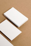 Blank Business Card. On kraft paper Royalty Free Stock Images
