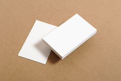 Blank Business Card. On kraft paper Royalty Free Stock Photography