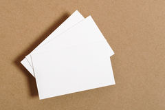 Blank Business Card. On kraft paper Royalty Free Stock Photos