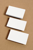 Blank Business Card. On kraft paper Royalty Free Stock Photo