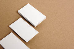 Blank Business Card. On kraft paper Stock Image