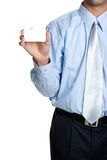 Blank Business Card Man royalty free stock images