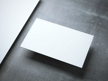 Blank  business card on the metal floor Royalty Free Stock Images