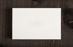 Blank Business Card - Mockup - Recycled Paper Stock Image