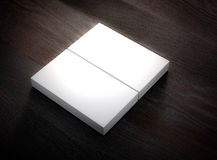 Blank business card mockup template. 3d rendering. Stock Image