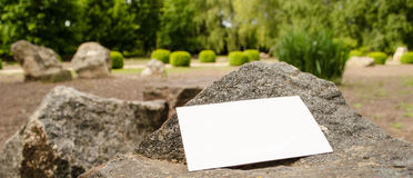 Blank business card outdoor Stock Photos