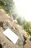 Blank business card outdoor Royalty Free Stock Photo