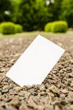 Blank business card outdoor Stock Photo
