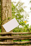 Blank business card outdoor Stock Images