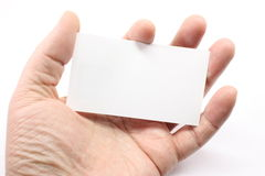 Blank Business Card in Palm Stock Image