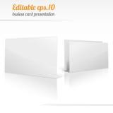 Blank business card presentation Stock Photos