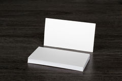 Blank business card. On the table Royalty Free Stock Photography