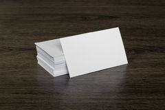 Blank business card. On the table Royalty Free Stock Images