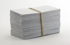 Blank business cards. One packet Royalty Free Stock Images