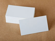 Blank business cards. On crafts background, identity design, corporate templates, company style Royalty Free Stock Photo