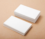 Blank business cards. On crafts background, identity design, corporate templates, company style Stock Photography