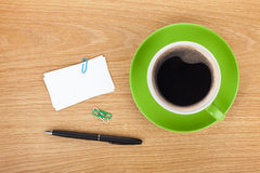Blank business cards and coffee Stock Photography