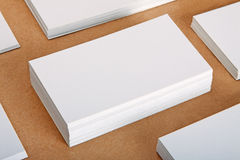 Blank business cards. Crafts background Royalty Free Stock Images