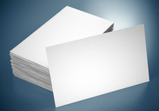 Blank business cards Stock Photography