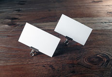Blank business cards Royalty Free Stock Photos