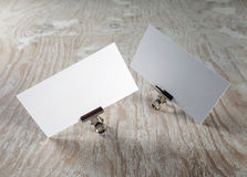 Blank business cards Stock Image