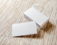 Blank business cards Stock Images