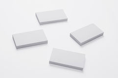 Blank Business Cards on  on white. Background with soft shadows Royalty Free Stock Photos