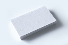 Blank business cards  on white Stock Photo