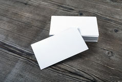 Blank business cards Royalty Free Stock Images