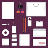 Blank Business Corporate Templates. Illustration Royalty Free Stock Photo