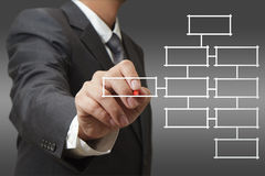 Blank business diagram Stock Images