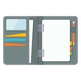 Blank business organizer Royalty Free Stock Image