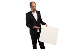Blank business placard royalty free stock photo