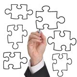 Blank Business Puzzle Stock Photography