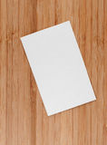 Blank business (visit) card on old wooden table Stock Photo