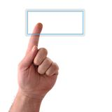 Blank Button. Concept : Big rectangular glass button. Your text may be easily added Royalty Free Stock Photo