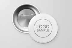 Blank button badge. Blank button badge, front and back view. Design template. Vector EPS10 illustration Stock Image