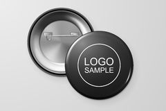 Blank button badge. Blank button badge, front and back view. Design template. Vector EPS10 illustration Royalty Free Stock Photos