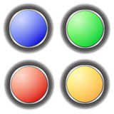 Blank button collection Royalty Free Stock Photography