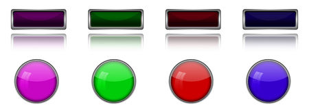 Blank button. Stock Photography