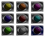 Blank button illustrations. Stock Photography