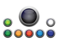 Blank Button Set Stock Photos