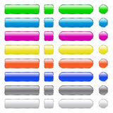 Blank buttons. Buttons with colored metallic luster vector illustration
