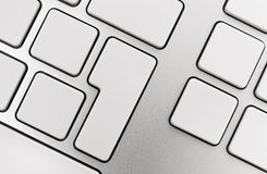 Blank Buttons On Keyboard Royalty Free Stock Images