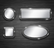 Blank buttons Stock Images
